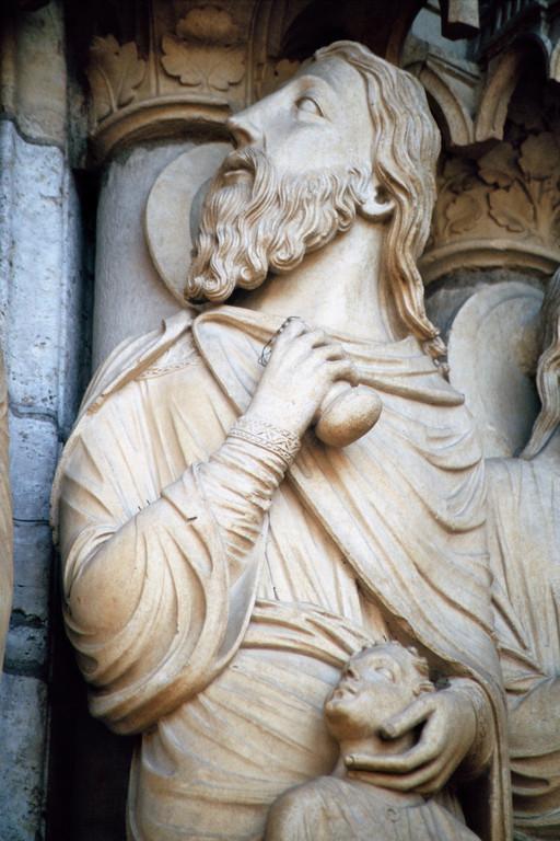 Kathredrale von Chartres, Nordfassade, Abraham und Isaak