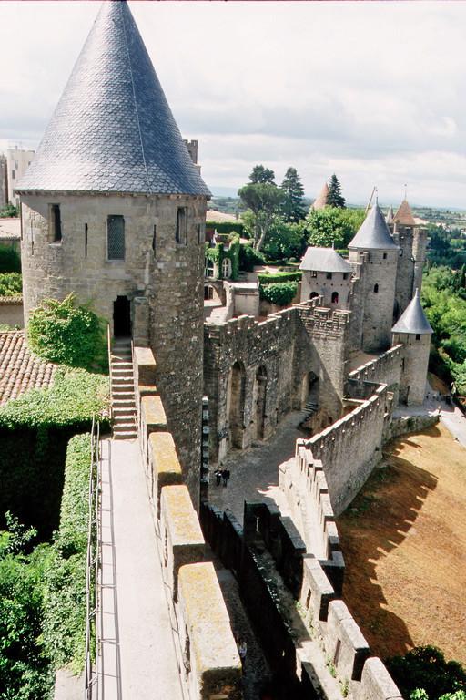Carcassonne, Auf der Stadtmauer