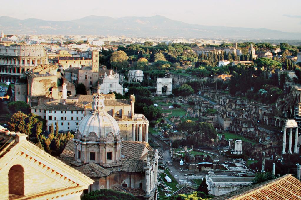 Forum Romanum mit Albanerbergen