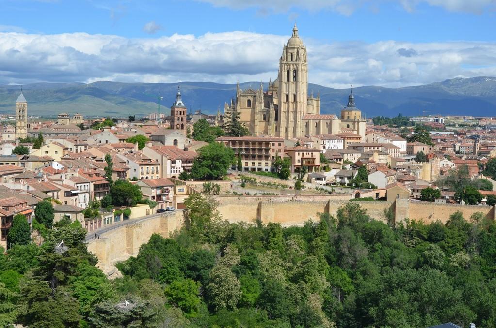 Segovia, Blick vom Alcázar auf die Kathedrale