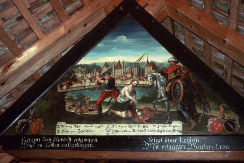 Luzern, Kapellbrücke, Bilderzyklus (Tod des Gereon)
