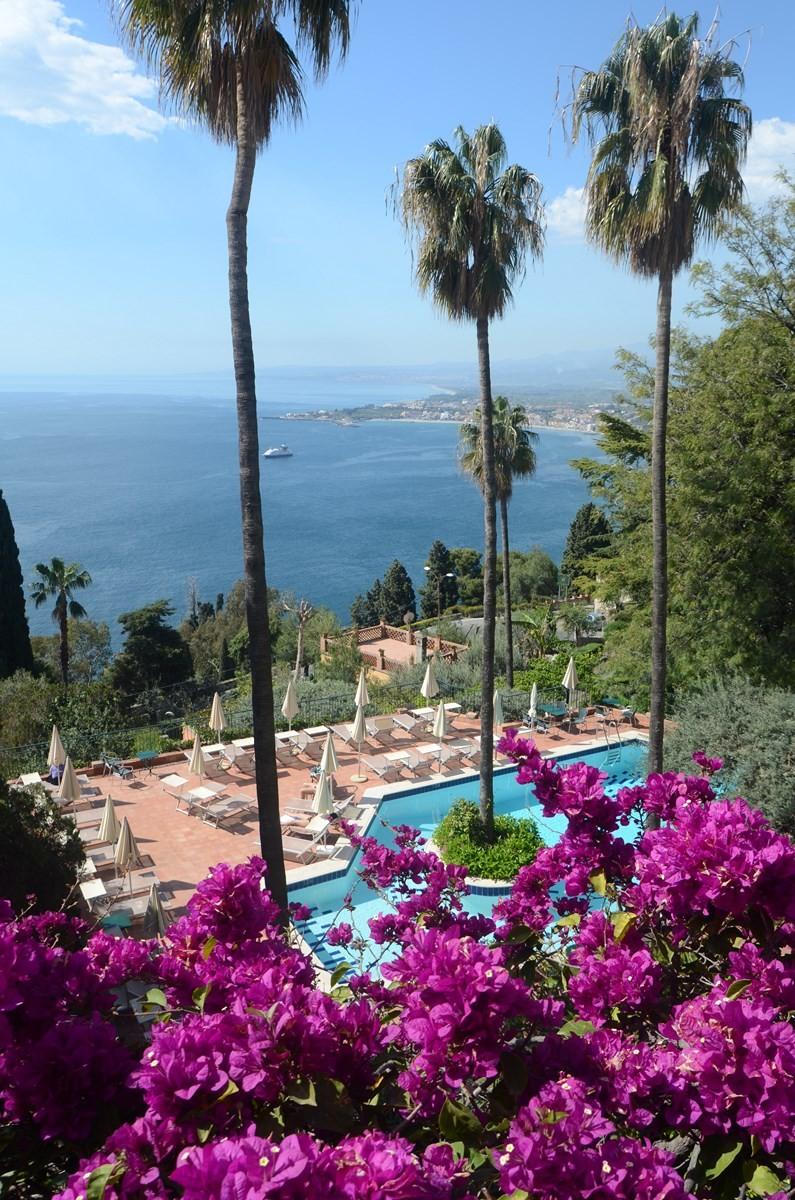 Taormina, Blick aus unserem Hotel