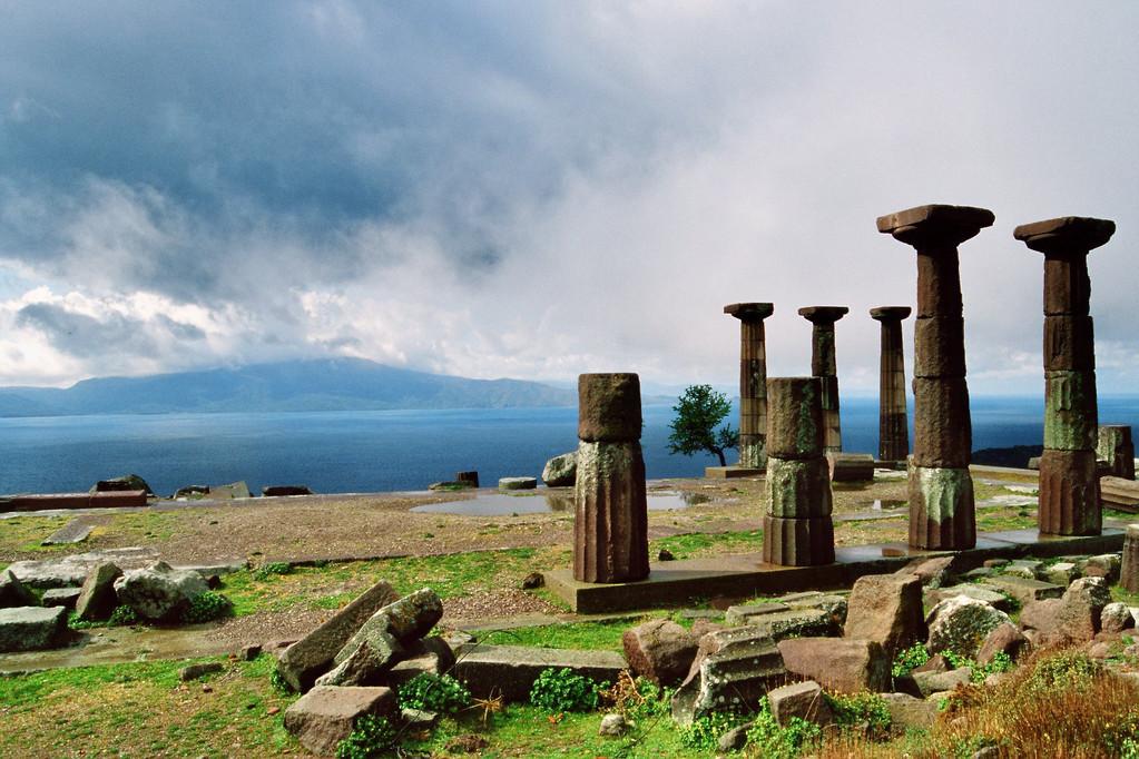 Assos, Ruinen des dorischen Athena-Tempels
