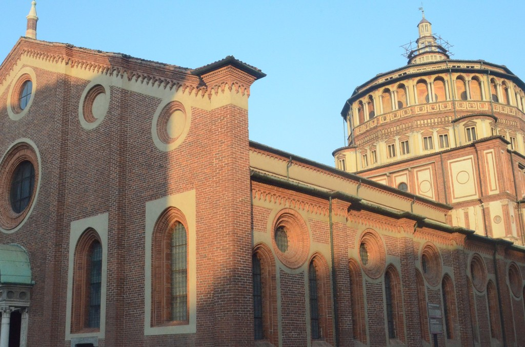 Mailand, Santa Maria delle Grazie (mit Abendmahl Leonardos da Vinci)
