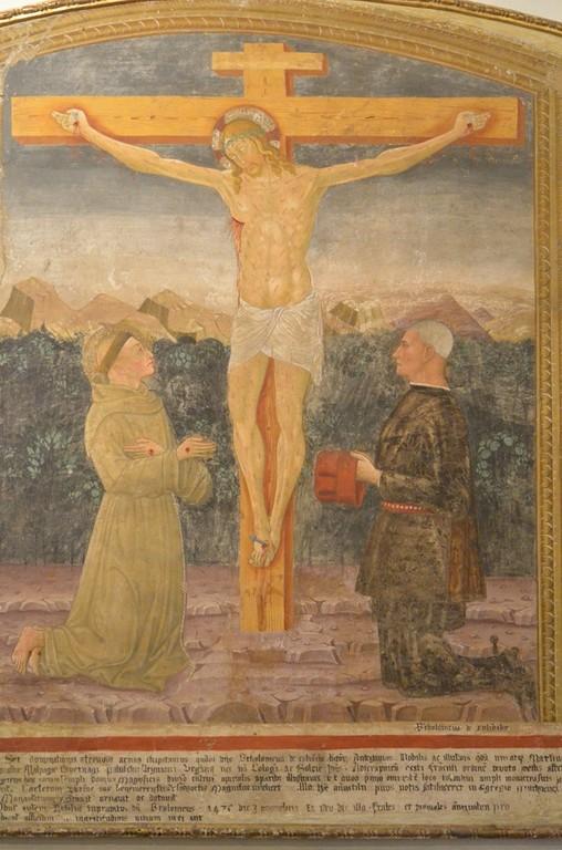 Bergamo, Casa Colleoni, Bartolomeo Colleoni und Gattin als Stifter