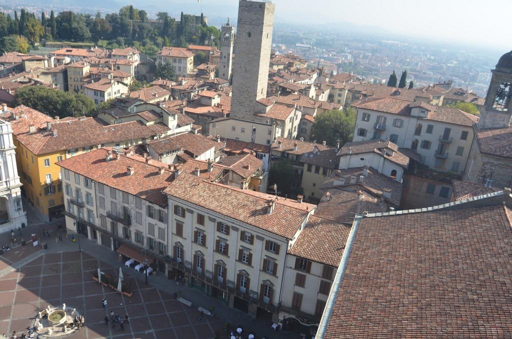 Bergamo, Blick auf die Piazza Vecchia
