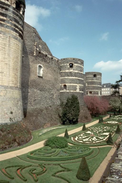 Mauern der Burg von Angers