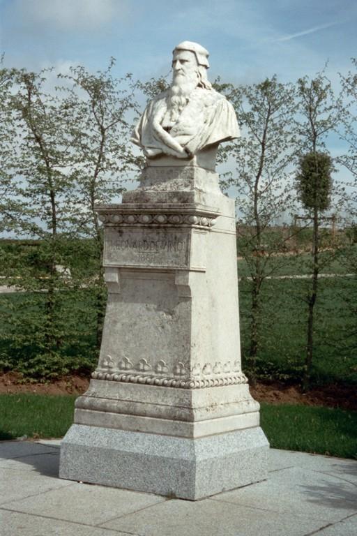 Amboise, Denkmal für Leonardo da Vinci (*1452 bei Vinci, †1519 Clos Lucé bei Amboise)