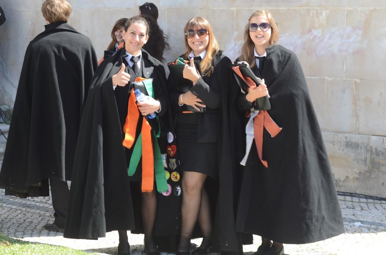Studentenstadt Coimbra - nach bestandenem Examen