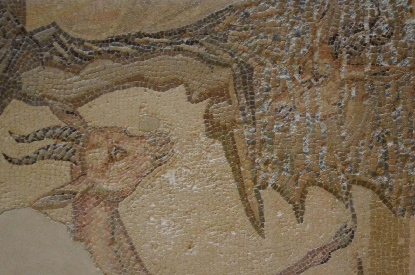 Agrigento, Archäologisches Museum, Mosaik (Detail)