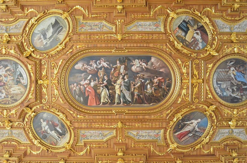 Augsburg, Goldener Saal des Rathauses, Decke