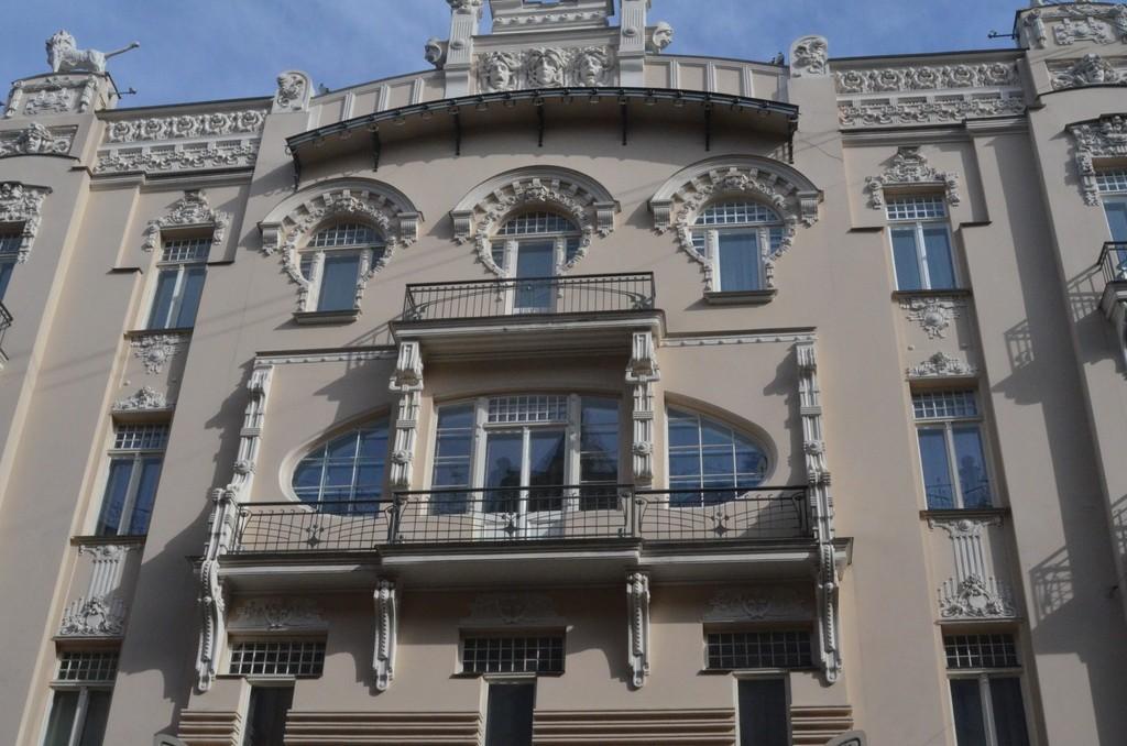 Riga, Alberta iela/Albertstraße 4, Jugendstilfassade (Architekt: Michail Eisenstein, 1904)