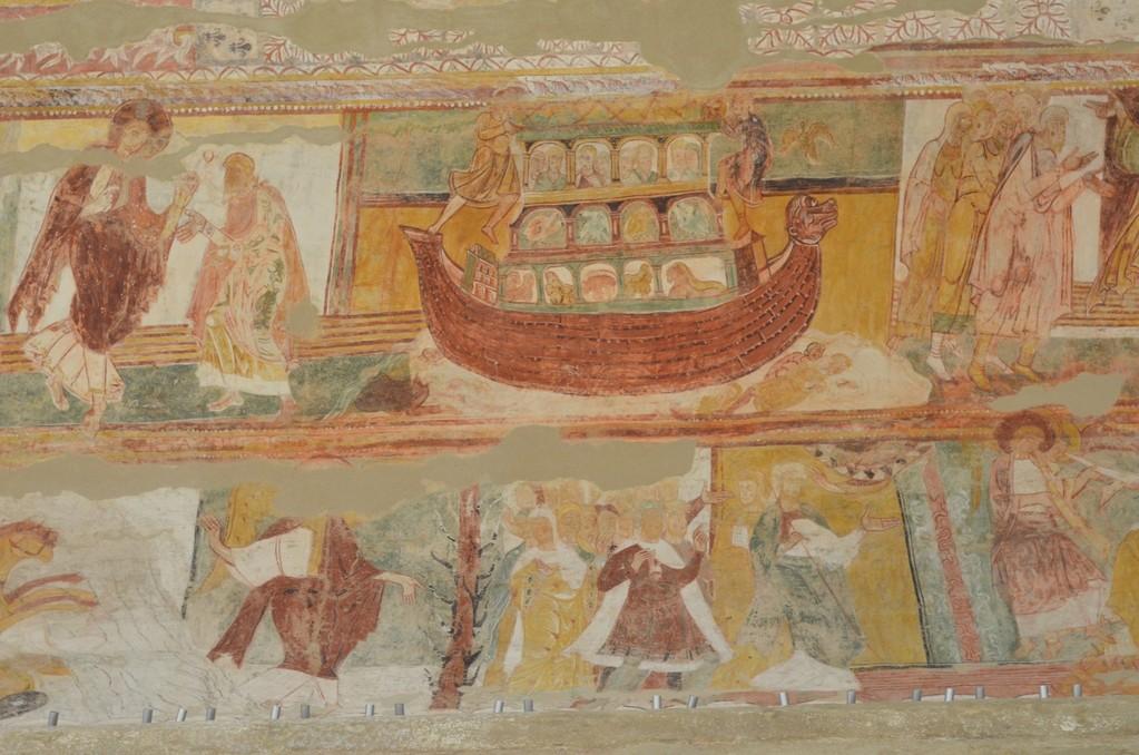 Saint-Savin-sur-Gartempe, Romanisches Deckengemälde (Ausschnitt)