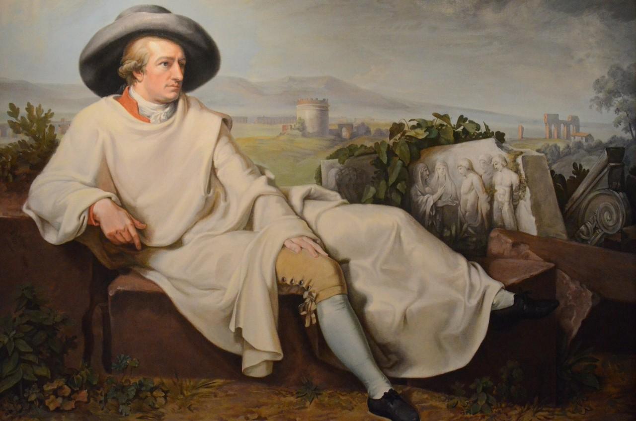 J. H. W. Tischbein, Goethe in der Campagna (Kopie, Casa di Goethe: hier gemalt)