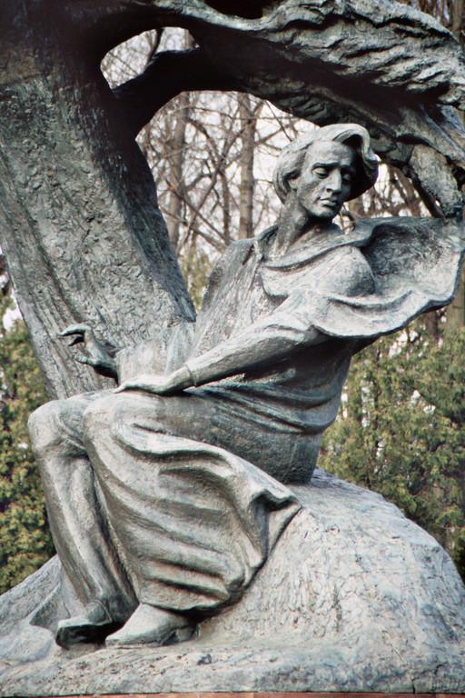 Warschau, Łazienki-Park, Denkmal für Frédéric Chopin