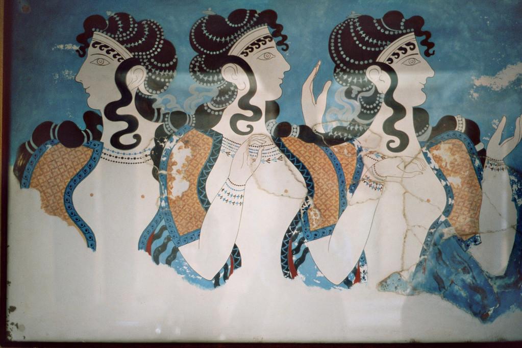 Tänzerinnenfries (Knossos, Rekonstruktion)