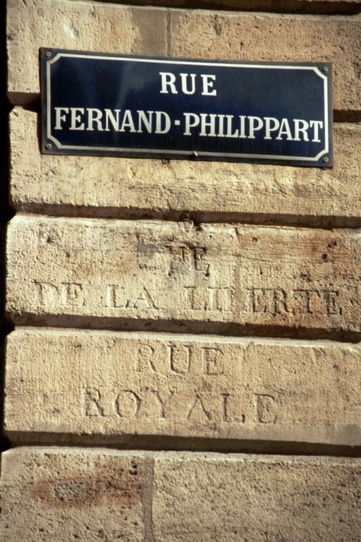 Bordeaux - eine Straße, drei Epochen, drei Namen