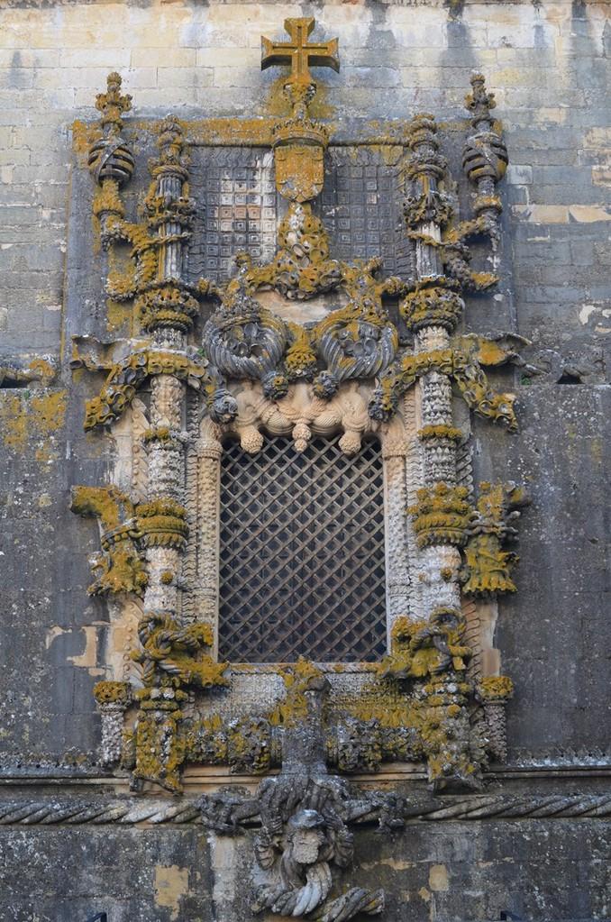 Tomar, Convento de Cristo, Manuelinisches Fenster - berühmtestes Portugals