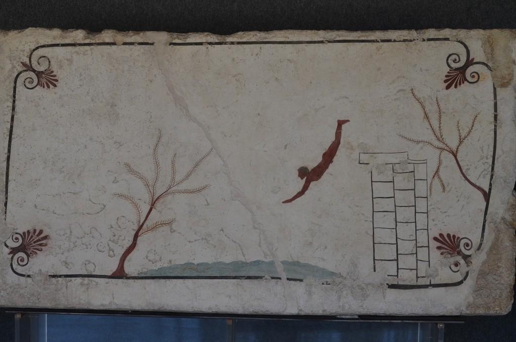 Paestum, sogenanntes 'Grab des Tauchers', Deckplatte