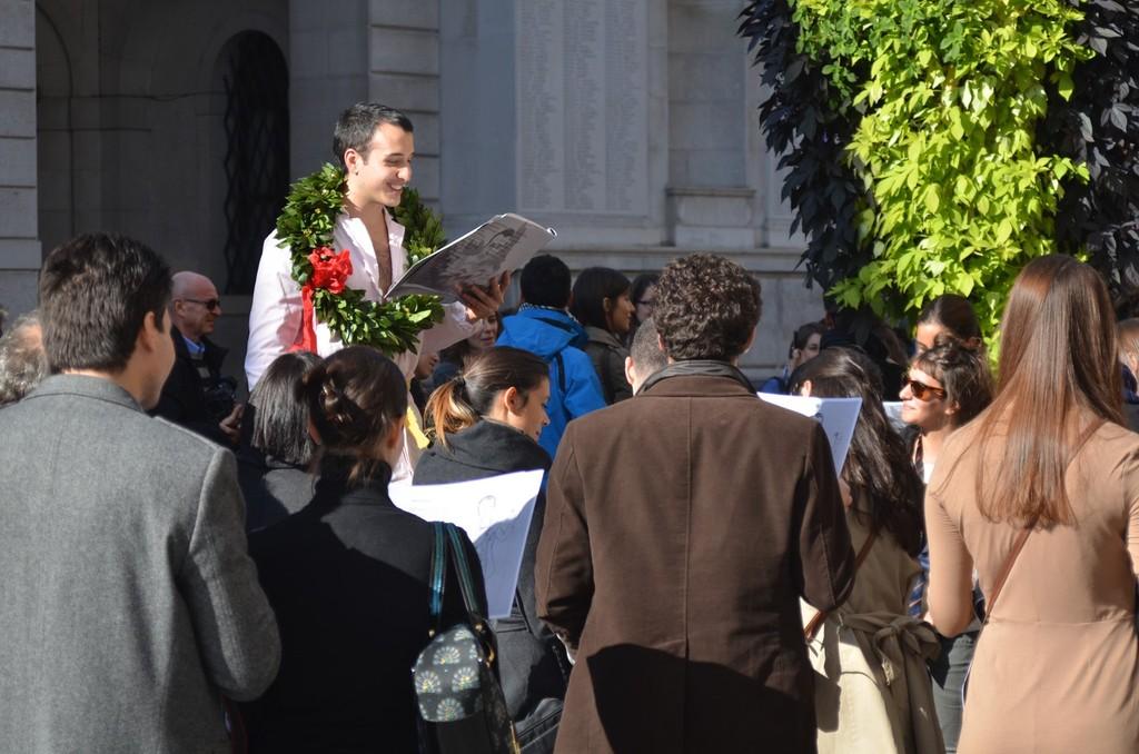 Padua, Öffentliche Feier eines Promovierten
