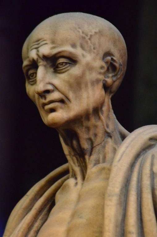 Marco d'Agrate, Der heilige Bartholomäus, Ausschnitt (Dom zu Mailand)