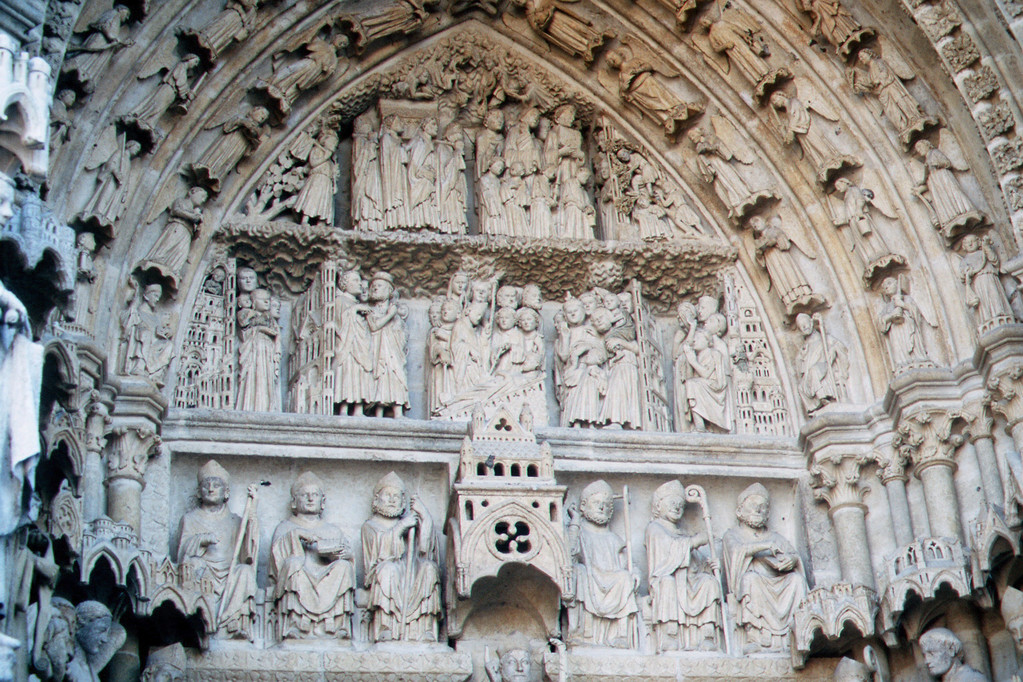 Amiens, Kathedrale, Portal S. Firmin tagsüber