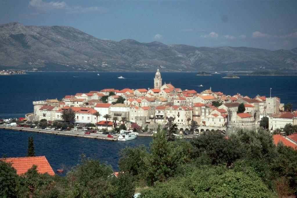 Blick auf Korčula-Stadt