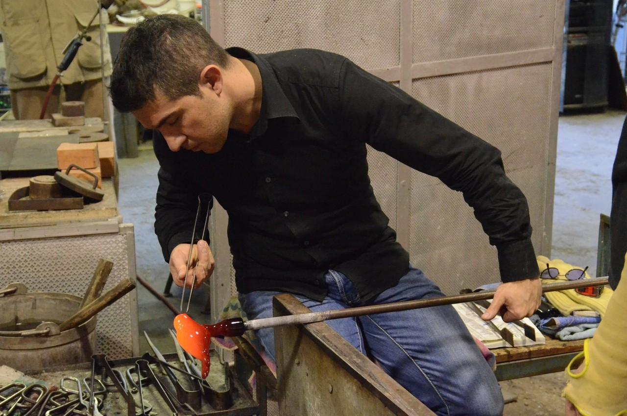 Murano - Glasbläsermeister Simone Cenedese bei der Arbeit