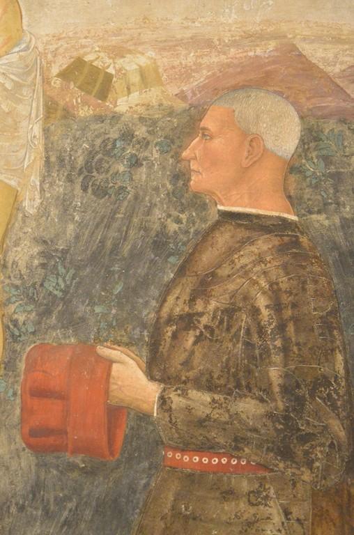 Bergamo, Casa Colleoni, Bartolomeo Colleoni (Detail)