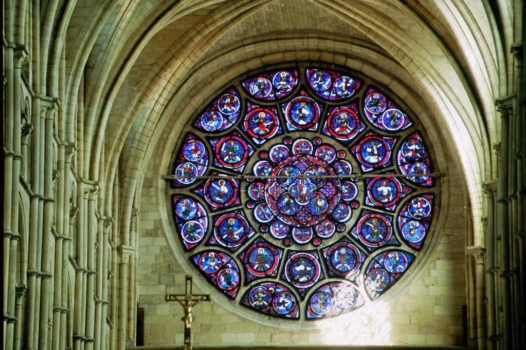 Laon, Kathedrale, Fensterrose des Chores