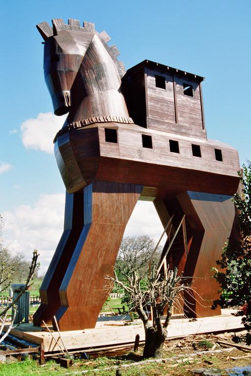 Troja, Nachbildung des Trojanischen Pferdes