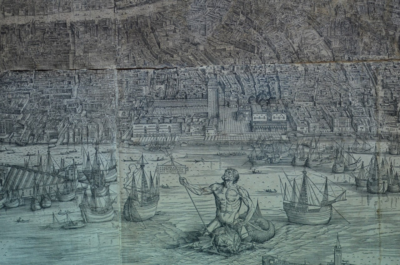 Iacopo de' Barbari, Plan Venedigs aus der Vogelperspektive um 1500 (Auszug)