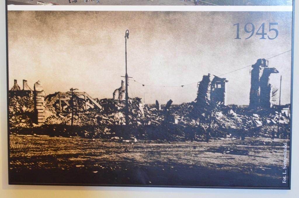Warschau, Schloß nach Zerstörung durch deutsche Truppen