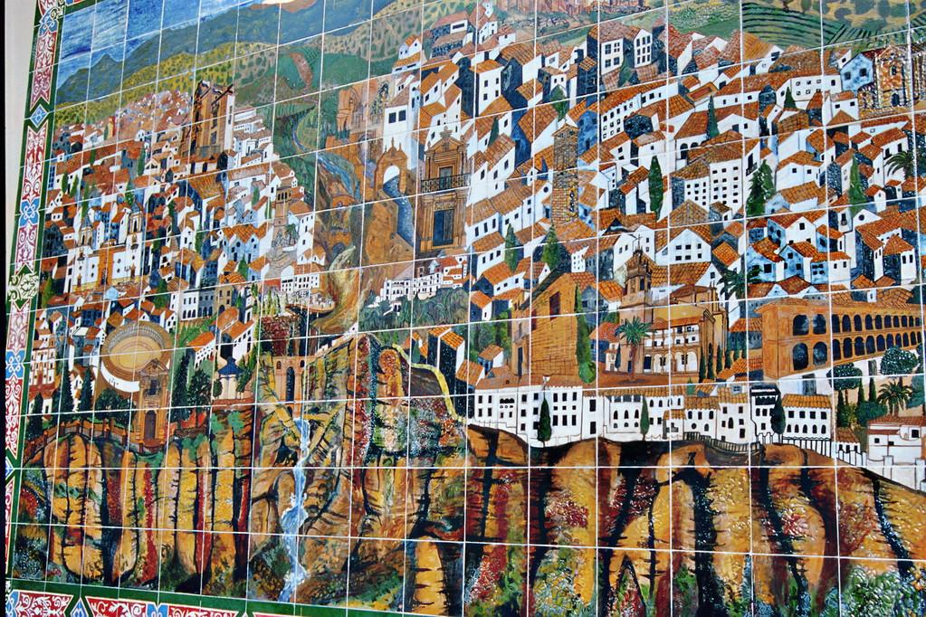 Ronda, Stadtplan als Kachelwand