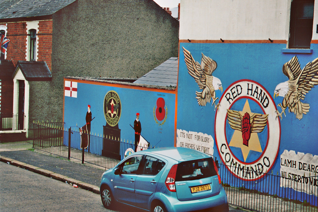 Belfast, Shankill Road, Protestantische Fassadenmalerei