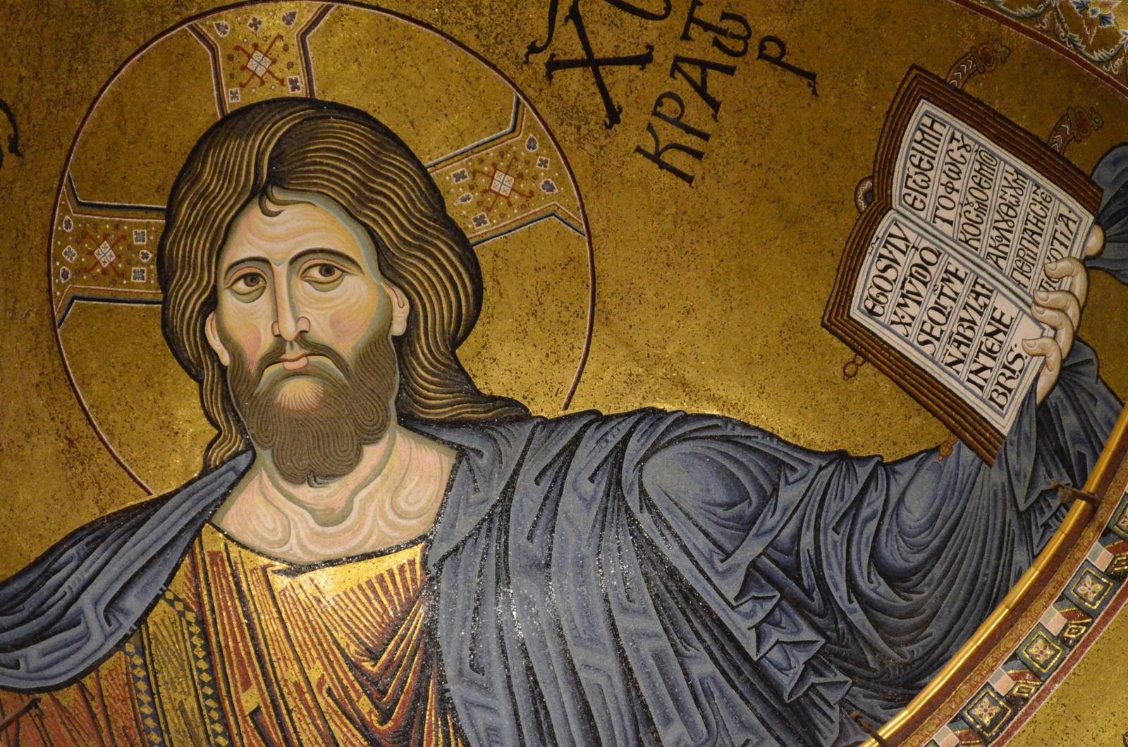 Monreale, Dom, Mosaik (Christus als Pantokrator/Weltenherrscher)