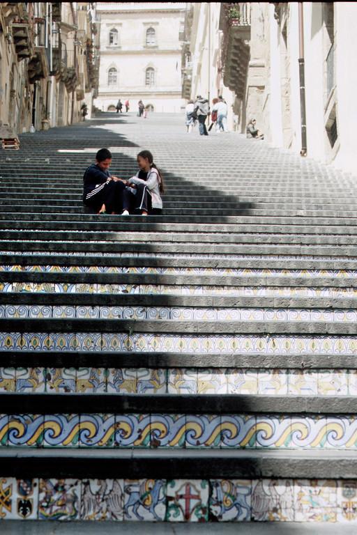 Caltagirone, Treppe aus glasierten Fliesen