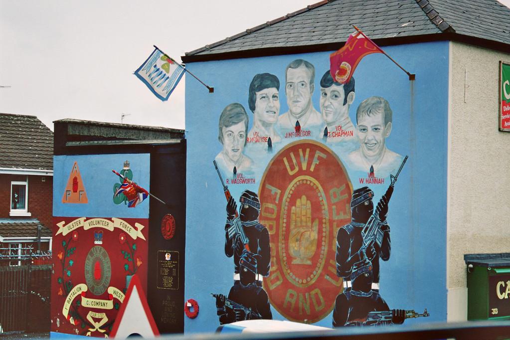 Belfast, Shankill Road, Mural der Ulster Volunteer Force