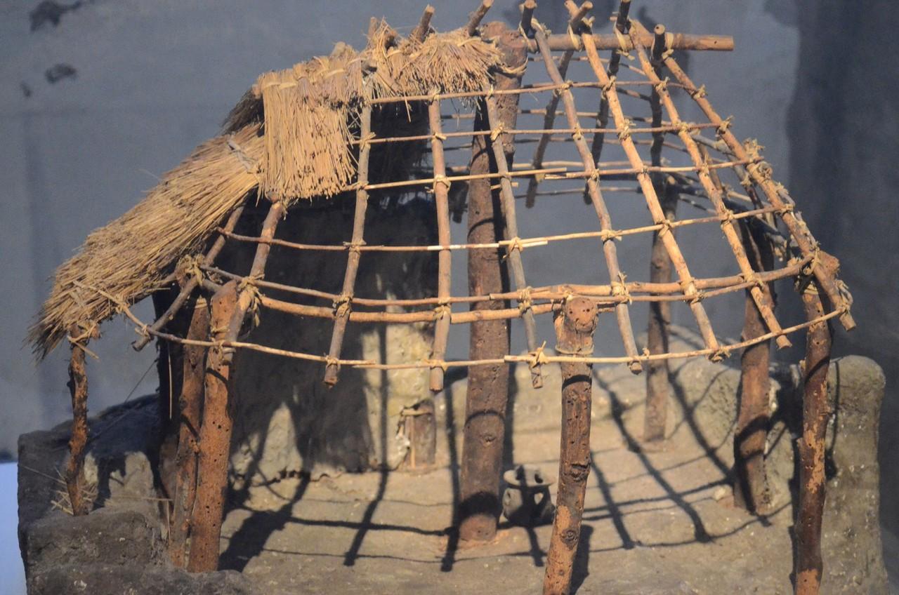 Modell einer vorrömischen Hütte auf dem Palatin (Museo Palatino)