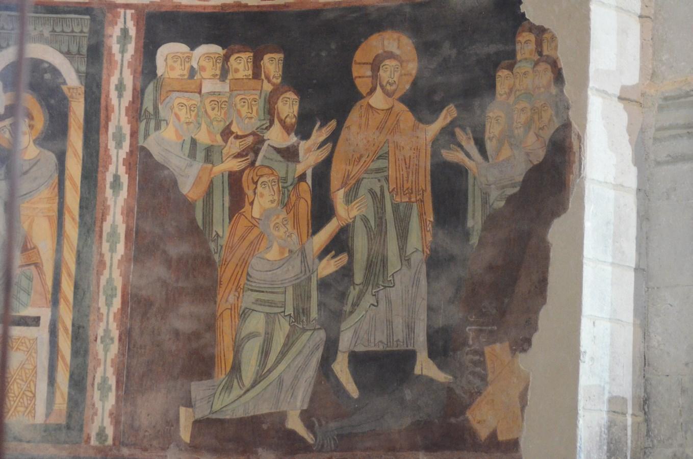 Santissima Trinità di Saccargia, Romanisches Fresko