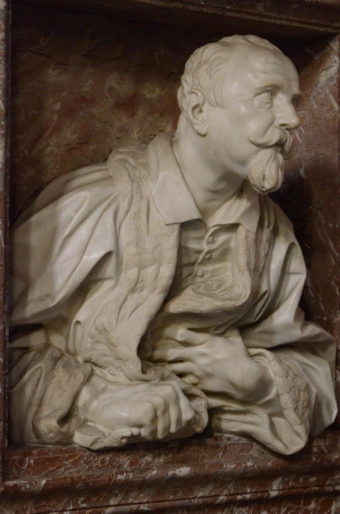 Gian Lorenzo Bernini, Der Arzt Gabriele Fonseca (um 1670; San Lorenzo in Lucina)