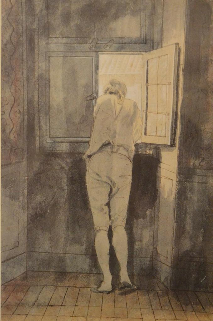 J. H. W. Tischbein, Goethe am Fenster (Casa di Goethe) ...