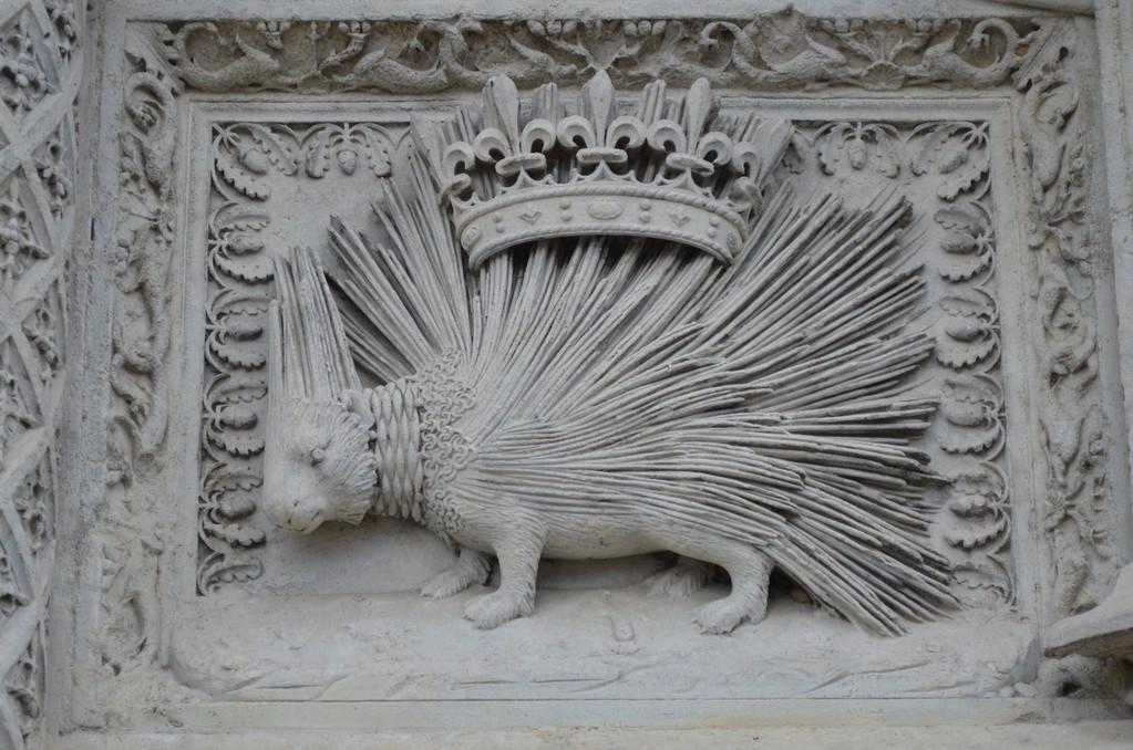 Das Stachelschwein - Emblem König Ludwigs XII. am Schloß von Blois