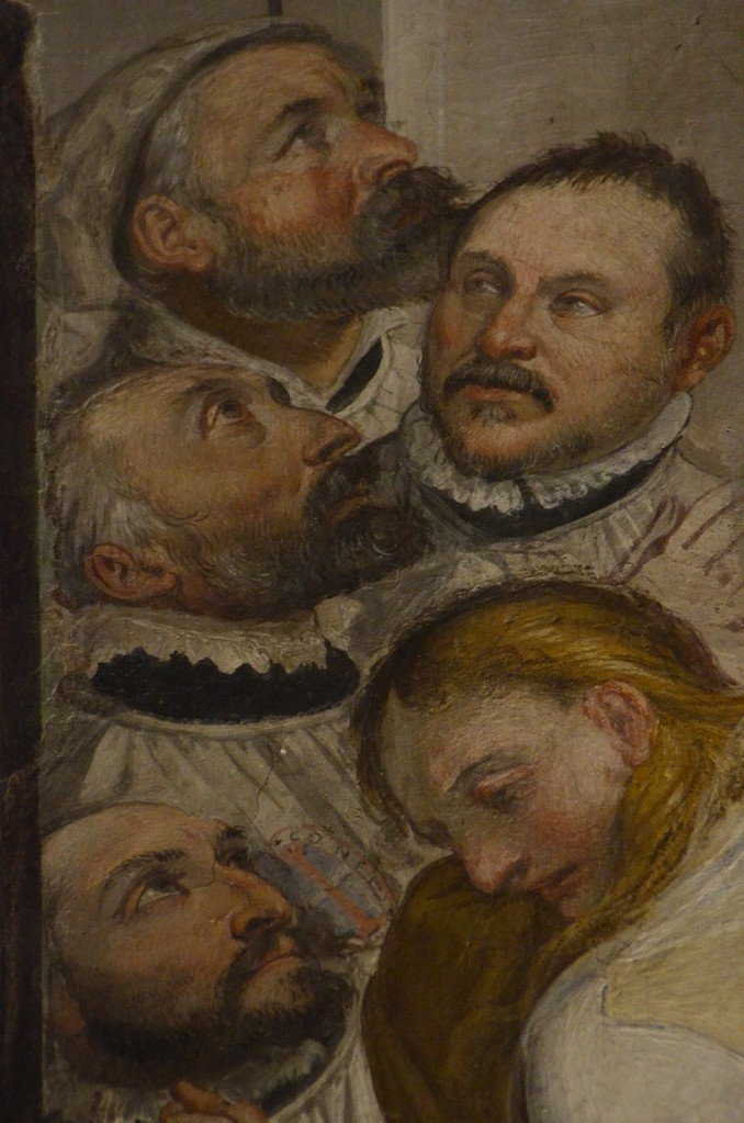 Oratorio del Gonfalone, Detail (Stifter)