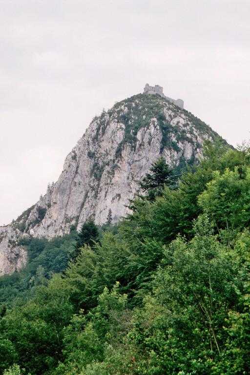 Blick auf das Château de Monségur