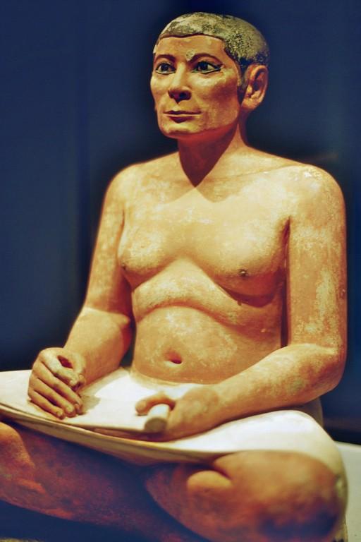 Louvre, Ägyptischer Schreiber (Mitte 3. Jahrtausend v.Chr.)