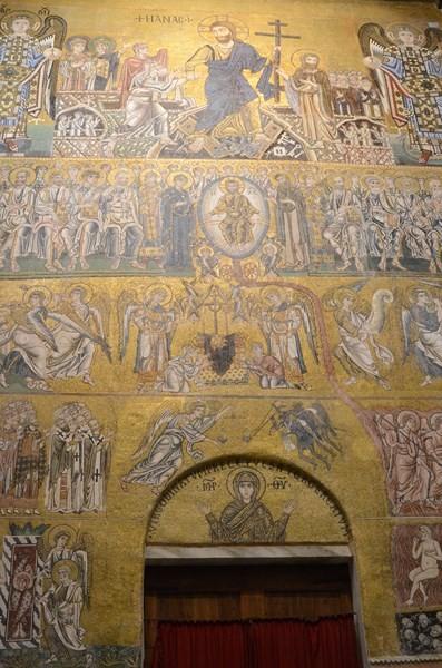 Torcello, Basilika, Innenseite der Westfassade