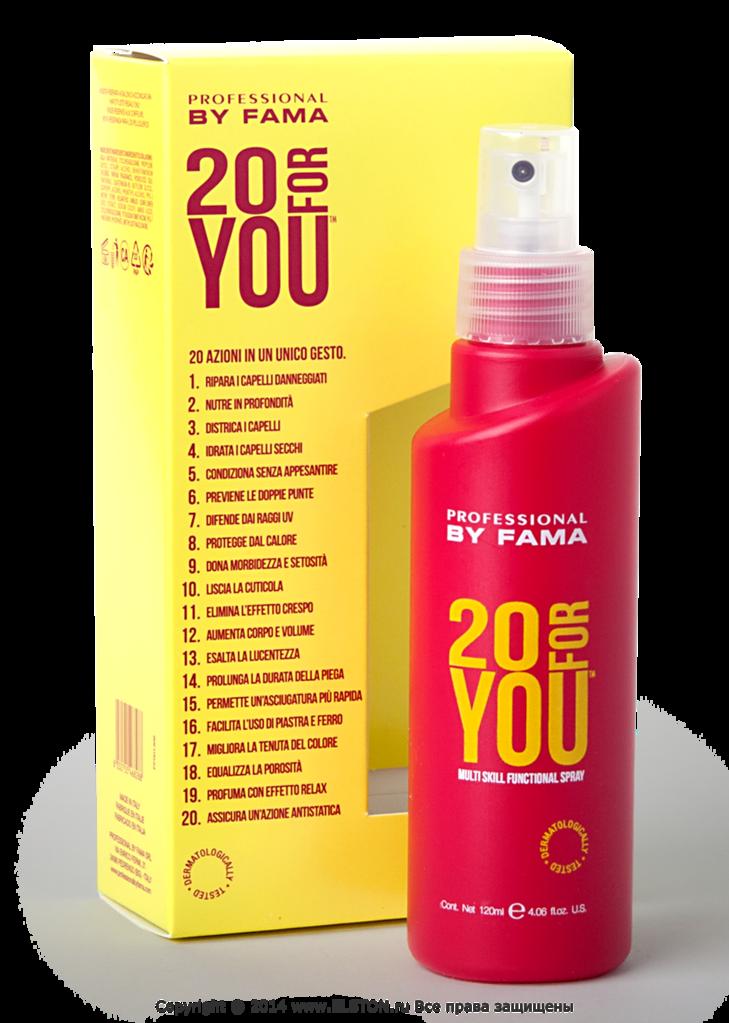 By fama 20 for you \\ многофункциональный универсальный спрей для волос, 120 мл - profkosmo.com.ua.