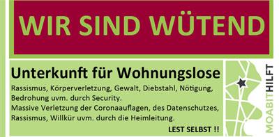 Schlimme Zustände in Berliner Unterkunft für Wohnungslose