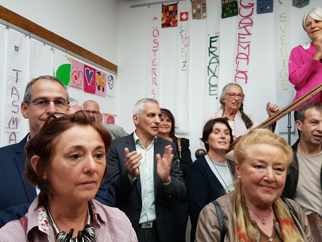 Die erste Präsidentin der Freundschaft mit Pliezhausen, Bürgermeister, Landräte ....